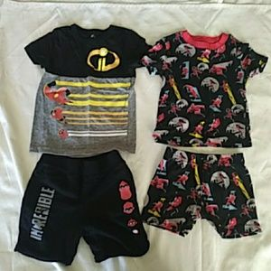 Boys 4T DisneyIncredibles 2 outfit and pajama set